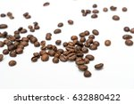 roasted coffee beans isolated... | Shutterstock . vector #632880422