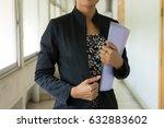 young beautiful business woman...   Shutterstock . vector #632883602