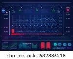 futuristic virtual graphic... | Shutterstock .eps vector #632886518