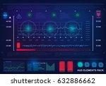 futuristic virtual graphic... | Shutterstock .eps vector #632886662