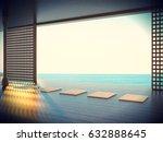 zen yoga room outdoor minimal... | Shutterstock . vector #632888645
