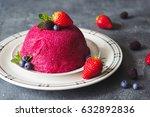 traditional summer pudding... | Shutterstock . vector #632892836