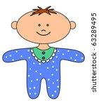 the smiling little ragdoll boy  ... | Shutterstock .eps vector #63289495
