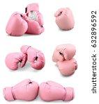 pink boxing gloves. | Shutterstock . vector #632896592