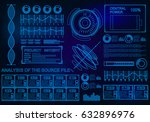 futuristic blue virtual graphic ... | Shutterstock .eps vector #632896976
