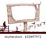 wood sign background for text...   Shutterstock .eps vector #632897972