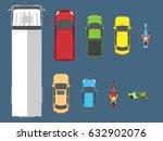 vector illustration of various... | Shutterstock .eps vector #632902076