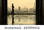 businessman looking at city... | Shutterstock . vector #632904416