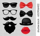 hipster set gradient mesh ... | Shutterstock .eps vector #632906402