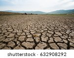 climate change dry land texture ... | Shutterstock . vector #632908292