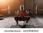 strong young girl with light... | Shutterstock . vector #632908562