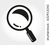 magnifying glass icon | Shutterstock .eps vector #632913242