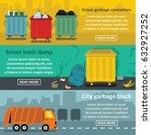 urban trash work banner... | Shutterstock .eps vector #632927252