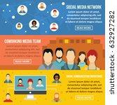 social network banner... | Shutterstock .eps vector #632927282