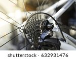 bicycle parts cassette and... | Shutterstock . vector #632931476