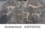 drawing of an ancient man in a...   Shutterstock . vector #632932532