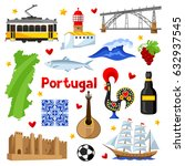 portugal icons set. portuguese... | Shutterstock .eps vector #632937545