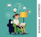 lovely flat design illustration ... | Shutterstock .eps vector #632938202