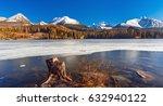 mountain lake strbske pleso in... | Shutterstock . vector #632940122
