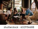 team of corporate professionals ... | Shutterstock . vector #632956688