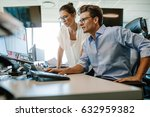 shot of two business colleagues ... | Shutterstock . vector #632959382