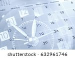 clock face and calendar... | Shutterstock . vector #632961746