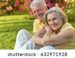 old  couple on a summer walk | Shutterstock . vector #632971928