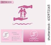 business cards design  family... | Shutterstock .eps vector #632972165