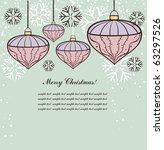 vintage christmas background | Shutterstock .eps vector #63297526