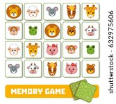 memory game for children  cards ... | Shutterstock .eps vector #632975606