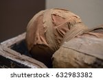egyptian mummy close up detail   Shutterstock . vector #632983382
