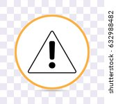 line icon   exclamation danger | Shutterstock .eps vector #632988482
