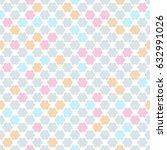seamless kids pattern in pastel ... | Shutterstock . vector #632991026