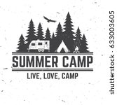 Summer Camp. Vector...