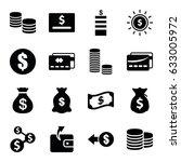 cash icons set. set of 16 cash... | Shutterstock .eps vector #633005972