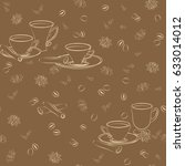 seamless pattern with cups ... | Shutterstock .eps vector #633014012