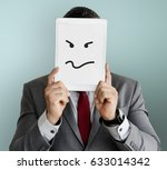 drawing facial expressions... | Shutterstock . vector #633014342