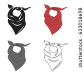 cowboy scarf icon cartoon.... | Shutterstock .eps vector #633018698