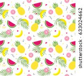 seamless pattern with yellow... | Shutterstock .eps vector #633024662