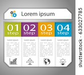 infographics design with four...   Shutterstock .eps vector #633027785