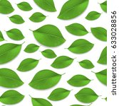 green realistic leaves seamless ... | Shutterstock .eps vector #633028856