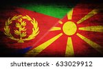 flags of eritrea and macedonia... | Shutterstock . vector #633029912