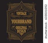 vintage badge  frame blackboard ... | Shutterstock . vector #633031052