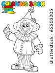 Coloring Book With Funny Clown...