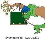 snake teacher with table on... | Shutterstock .eps vector #63303211