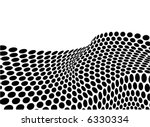 abstract halftone dots wave - stock vector
