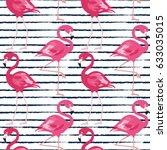 seamless pattern with dark blue ... | Shutterstock .eps vector #633035015