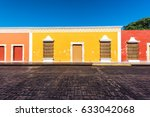 beautiful colonial architecture ...   Shutterstock . vector #633042068