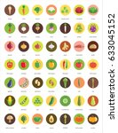 vegetable icons   big set of... | Shutterstock .eps vector #633045152