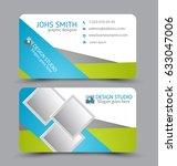 business card. design set... | Shutterstock .eps vector #633047006